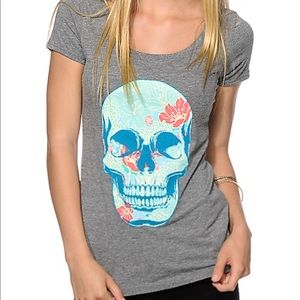 Empyre floral skull tee